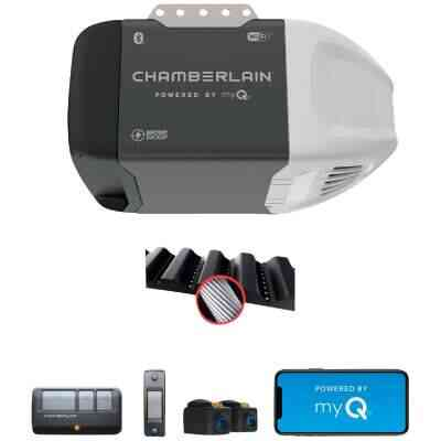 Chamberlain B-353 1/2 HP myQ Smart Belt Drive Garage Door Opener with WiFi