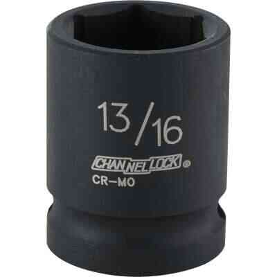 Channellock 1/2 In. Drive 13/16 In. 6-Point Shallow Standard Impact Socket