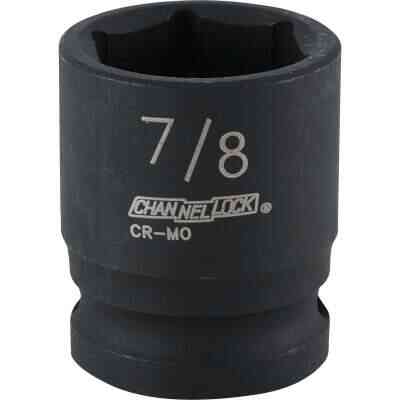 Channellock 1/2 In. Drive 7/8 In. 6-Point Shallow Standard Impact Socket
