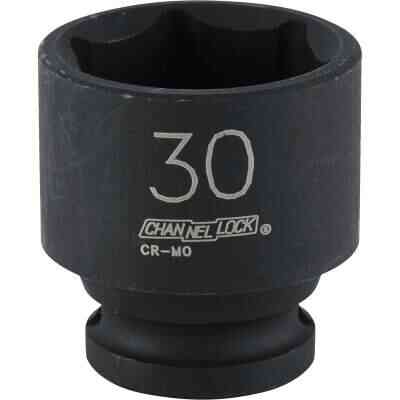 Channellock 1/2 In. Drive 30 mm 6-Point Shallow Metric Impact Socket