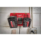 Milwaukee M18 18 Volt Lithium-Ion Dual Bay Simultaneous Rapid Battery Charger Image 2