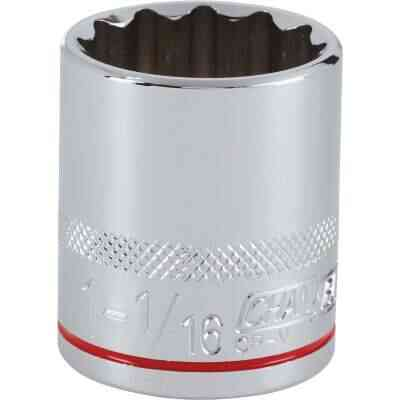 Channellock 1/2 In. Drive 1-1/16 In. 12-Point Shallow Standard Socket