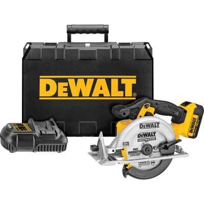 DeWalt 20 Volt MAX Lithium-Ion 6-1/2 In. Cordless Circular Saw Kit