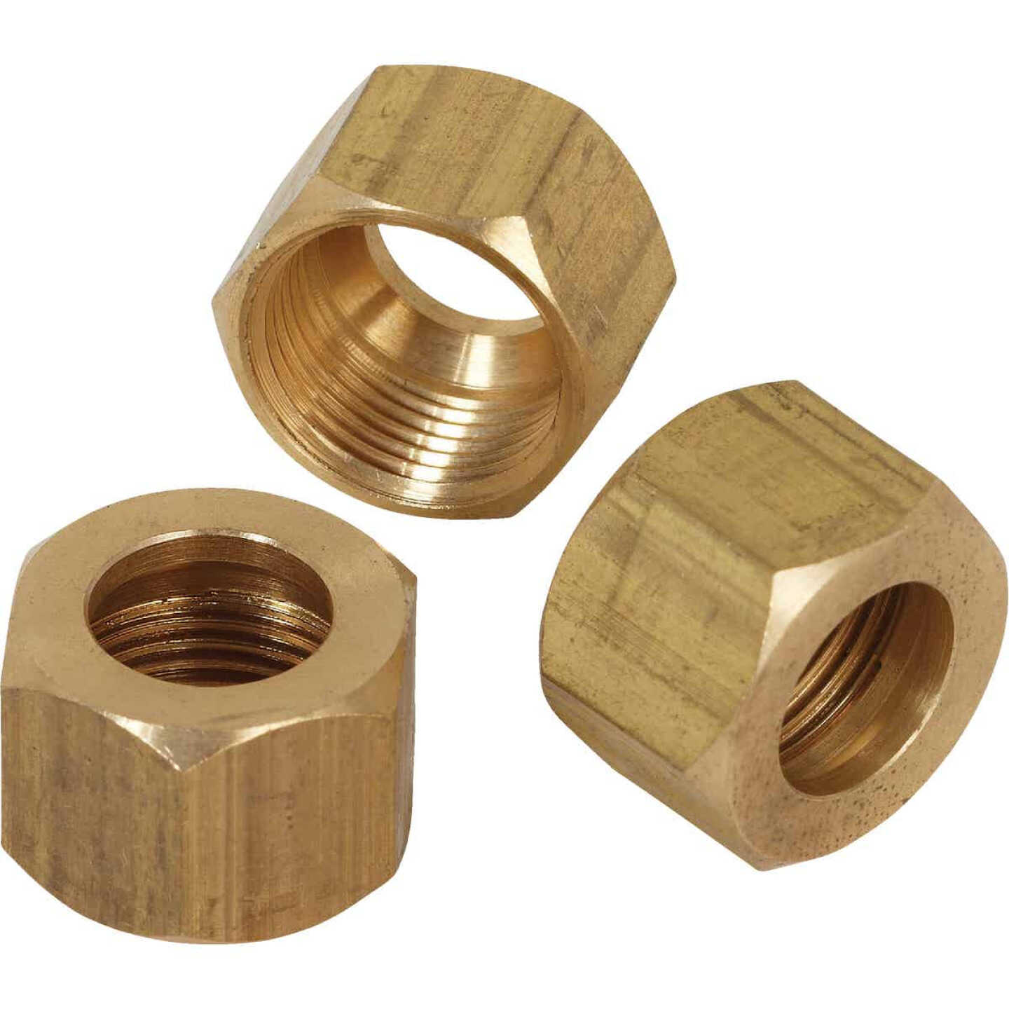 Do it 5/8 In. OD Brass Compression Nut (3-Pack) Image 1