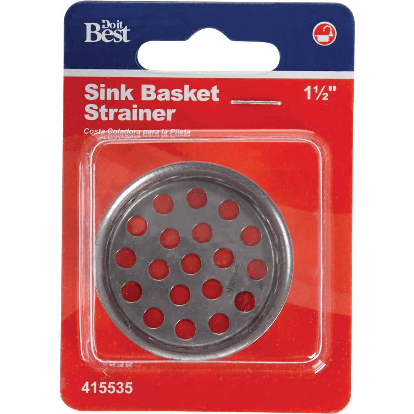 Do it 1-1/2 In. Chrome Removable Sink Strainer Cup  Image 2