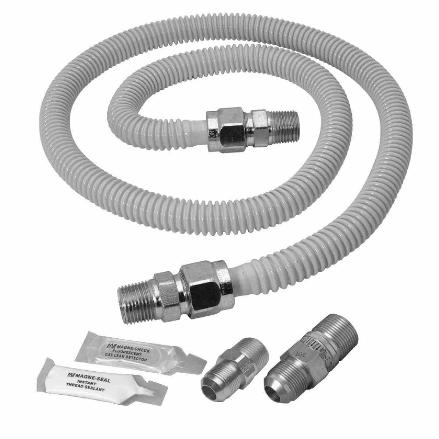 Dormont 5/8 In. OD x 48 In. Coated Stainless Steel Gas Connector Range Kit, 1/2 In. MIP (Tapped 3/8 In. FIP) x 1/2 In. MIP SmartSense Image 1