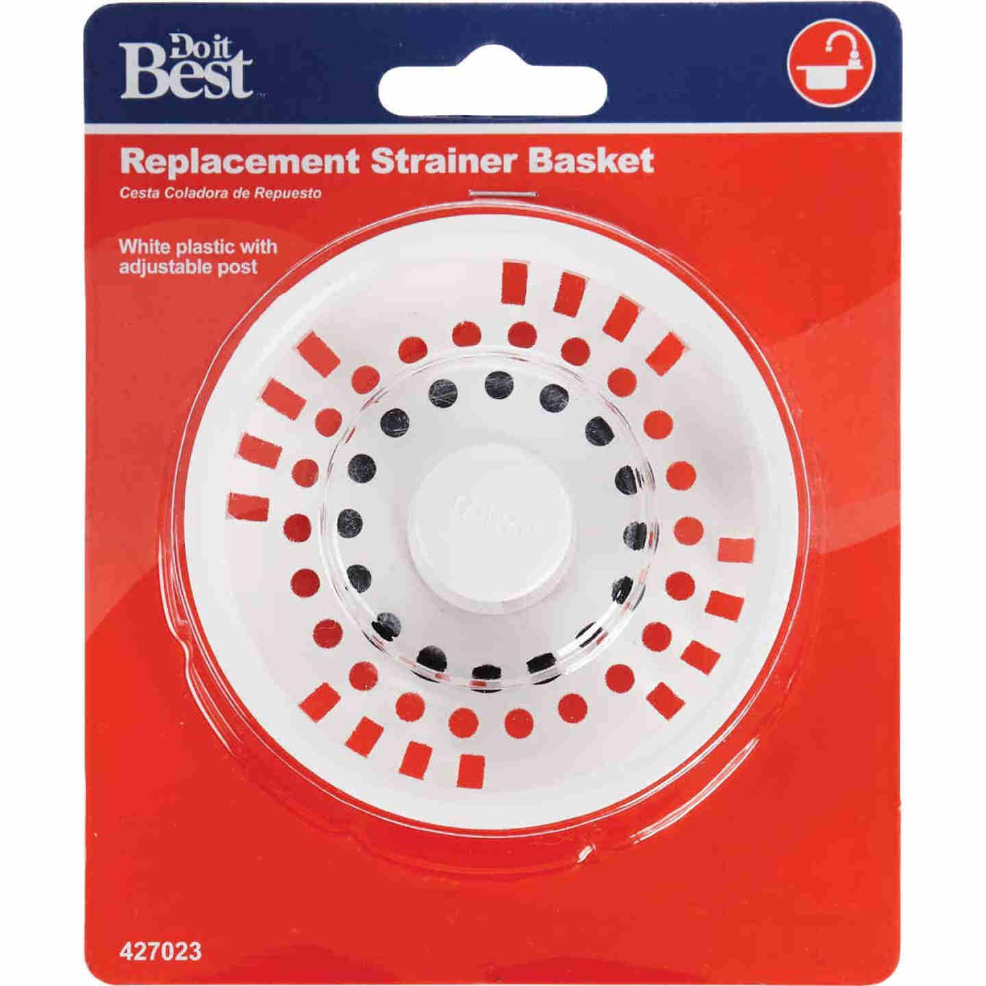 Do it 3-1/2 In. White Basket Strainer Stopper Image 2