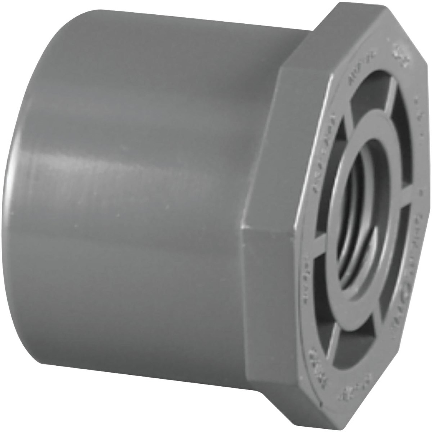 Charlotte Pipe 2 In. Spigot x 1 In. FIP Schedule 80 PVC Reducing Bushing Image 1