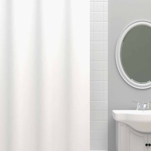 Zenna Home 70 In. x 72 In. White Heavyweight PEVA Shower Curtain Liner