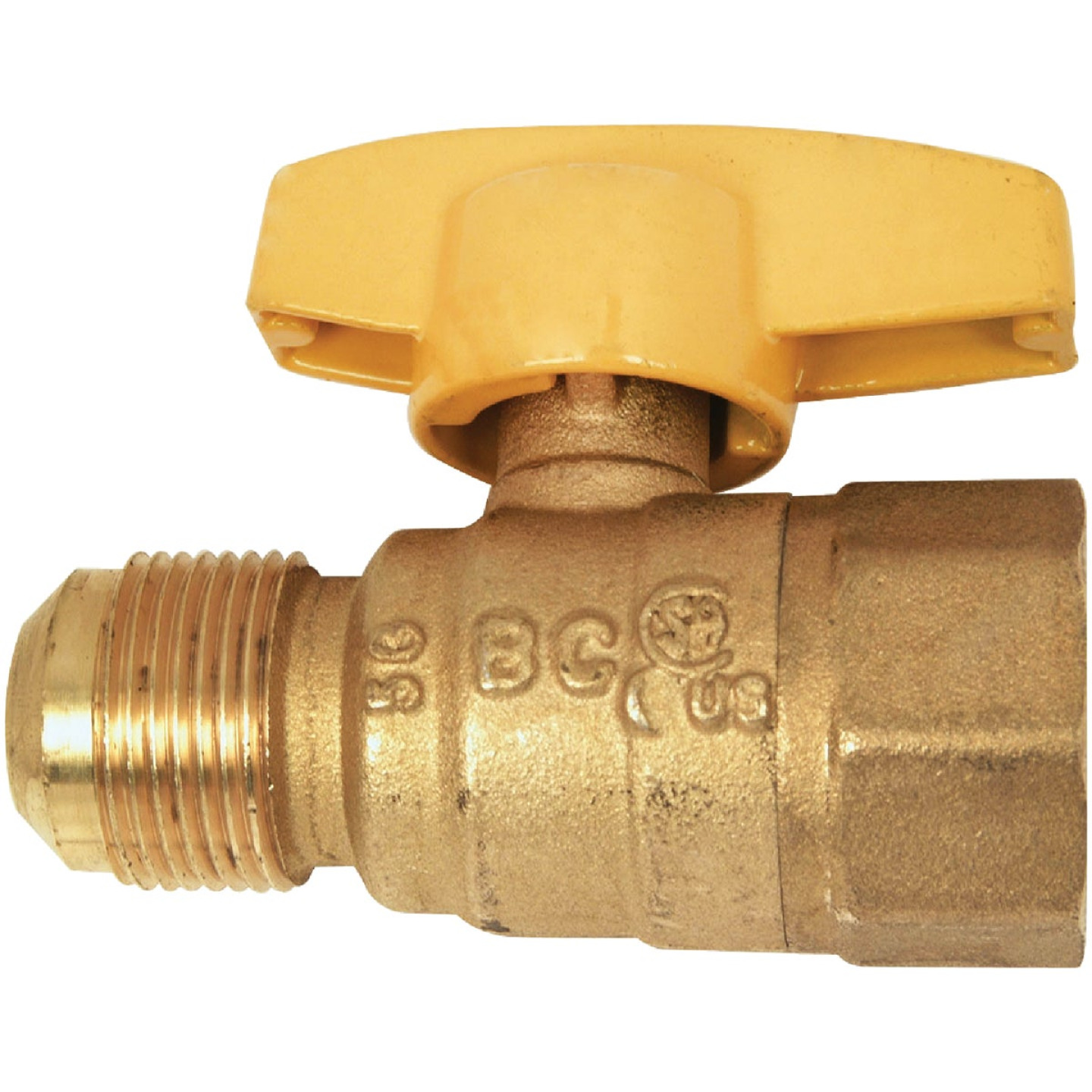 Dormont 5/8 In. OD Male Flare x 1/2 In. FIP Forged Brass Gas Shutoff Valve Image 1