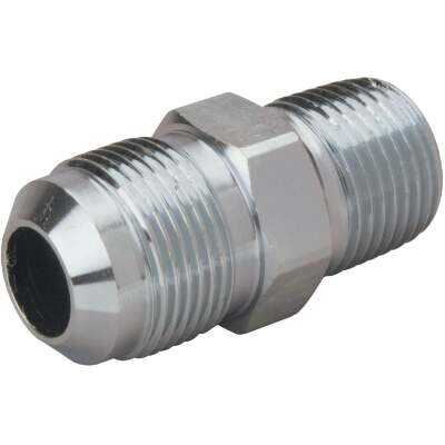 Dormont 5/8 In. OD Flare x 1/2 In. MIP (tapped 3/8 In. FIP) Brass Adapter Gas Fitting