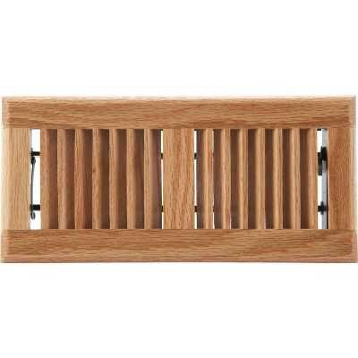 Home Impressions 4 In. x 10 In. Light Oak Floor Register