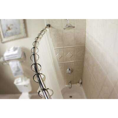 Moen Curved 54 In. To 72 In. Adjustable Fixed Shower Rod in Brushed Nickel