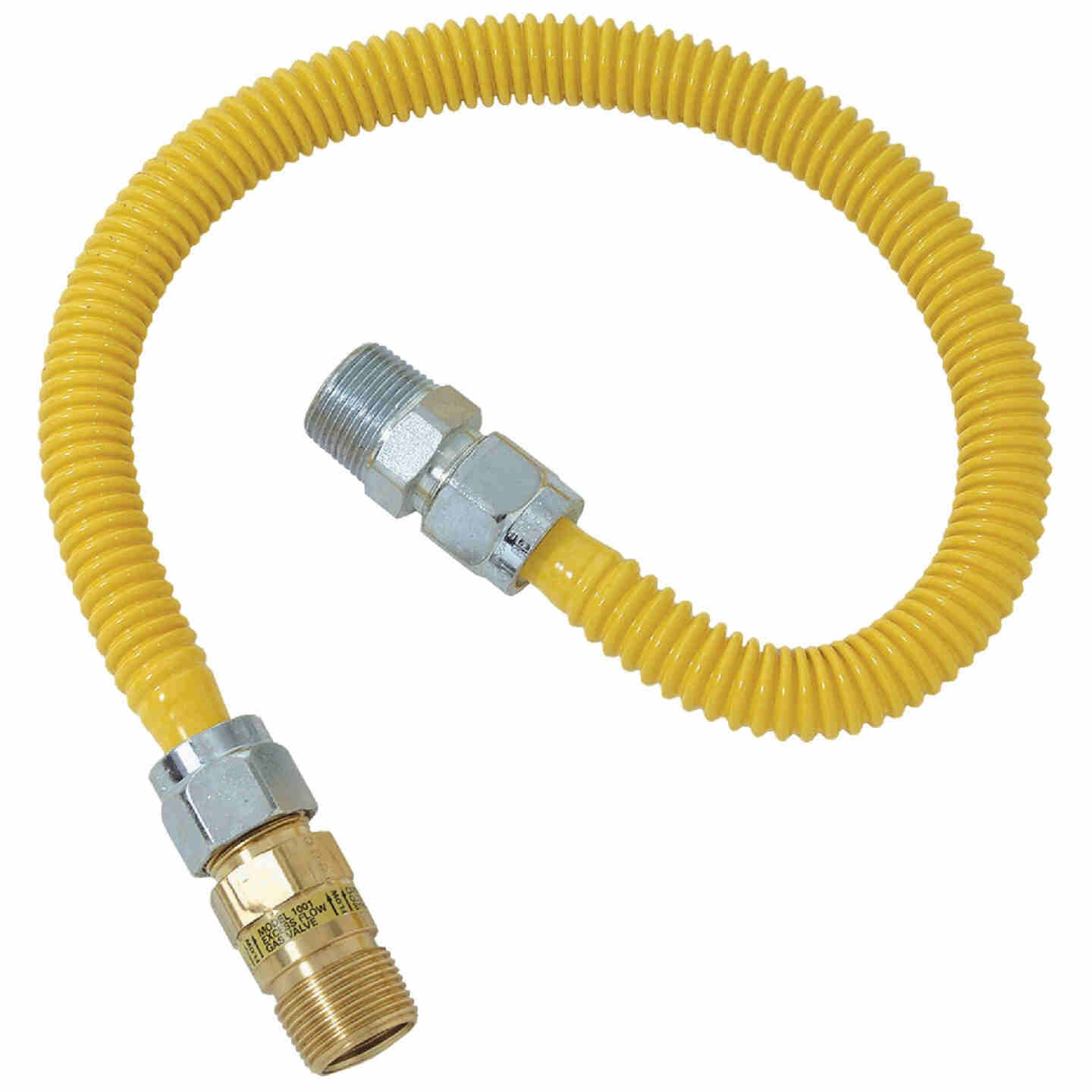 Dormont 5/8 In. OD x 24 In. Coated Stainless Steel Gas Connector, 1/2 In. MIP (Tapped 3/8 In. FIP) x 1/2 In. MIP SmartSense Image 1