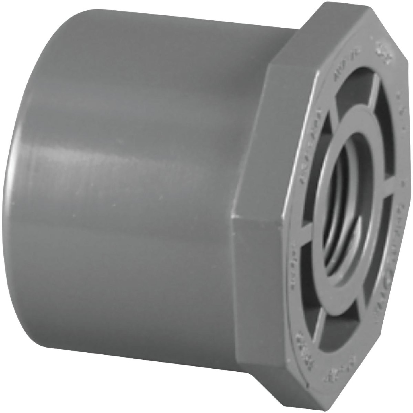 Charlotte Pipe 1-1/4 In. Spigot x 3/4 In. FIP Schedule 80 Reducing PVC Bushing Image 1