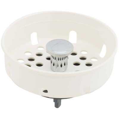 Do it 3-1/2 In. White Plastic Basket Strainer Stopper