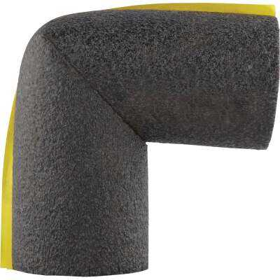 Tundra 1/2 In. Wall Self-Sealing Polyethylene Elbow Pipe Insulation Wrap, 3/4 In. Fits Pipe Size 3/4 In. Copper
