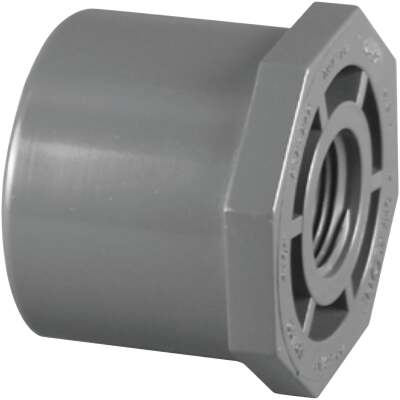 Charlotte Pipe 3/4 In. Spigot x 1/2 In. FIP Schedule 80 Reducing PVC Bushing