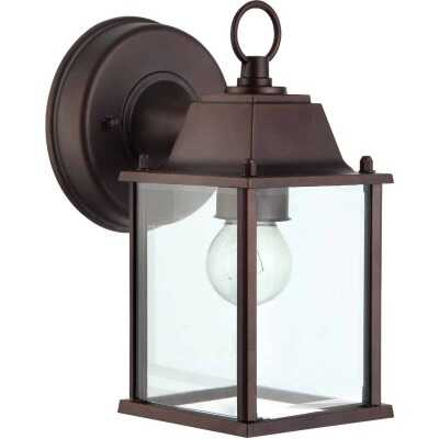 Home Impressions 100W Oil-Rubbed Bronze Incandescent Lantern Outdoor Wall Light Fixture