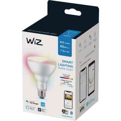 Wiz 65W Equivalent Color Changing BR30 Medium Indoor Dimmable LED Smart Floodlight Light Bulb