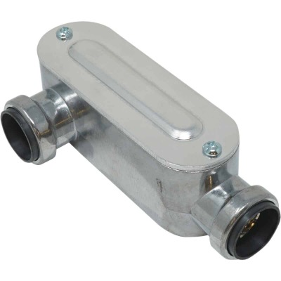 Southwire SimPush 1/2 In. EMT Push-To-Install Type-LR Conduit Body