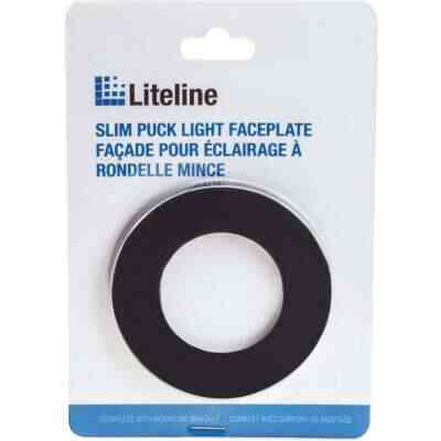 Liteline Black Magnetic Slim Puck Light Trim Ring
