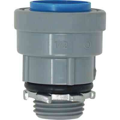 Southwire SimPush 1/2 In. PVC-CIC Push-To-Install Conduit Male Adapter