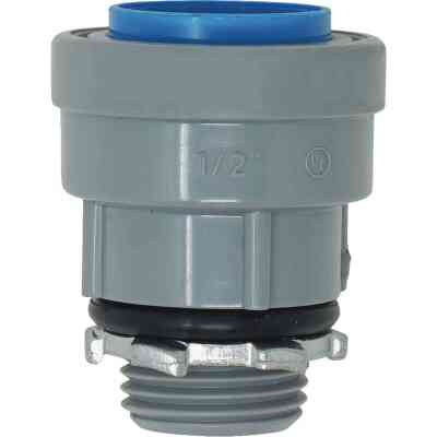 Southwire SimPush 1/2 In. PVC-CIC Push-To-Install Conduit Male Adapter (5-Pack)