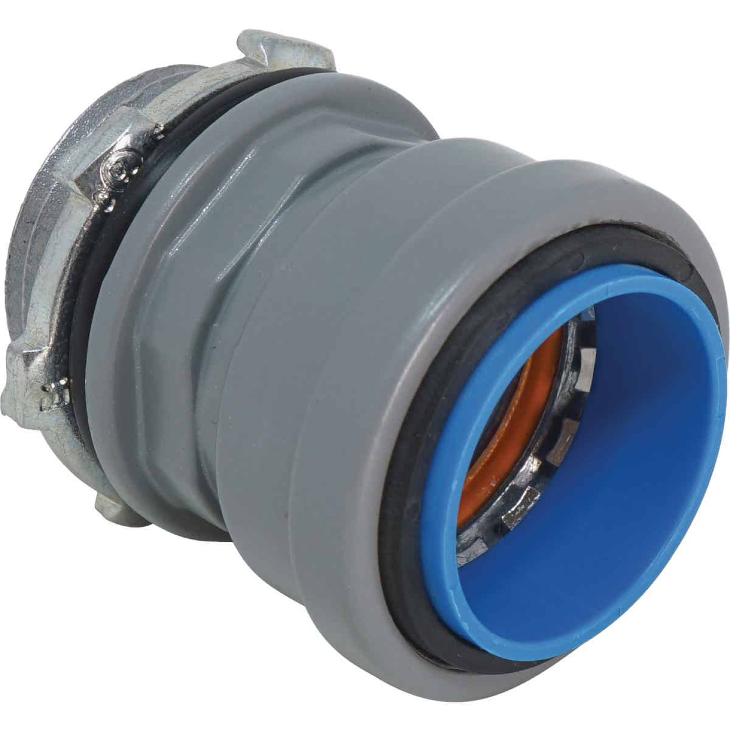 Southwire SimPush 3/4 In. Liquid Tight Metallic Push-To-Install Box Connector Image 1