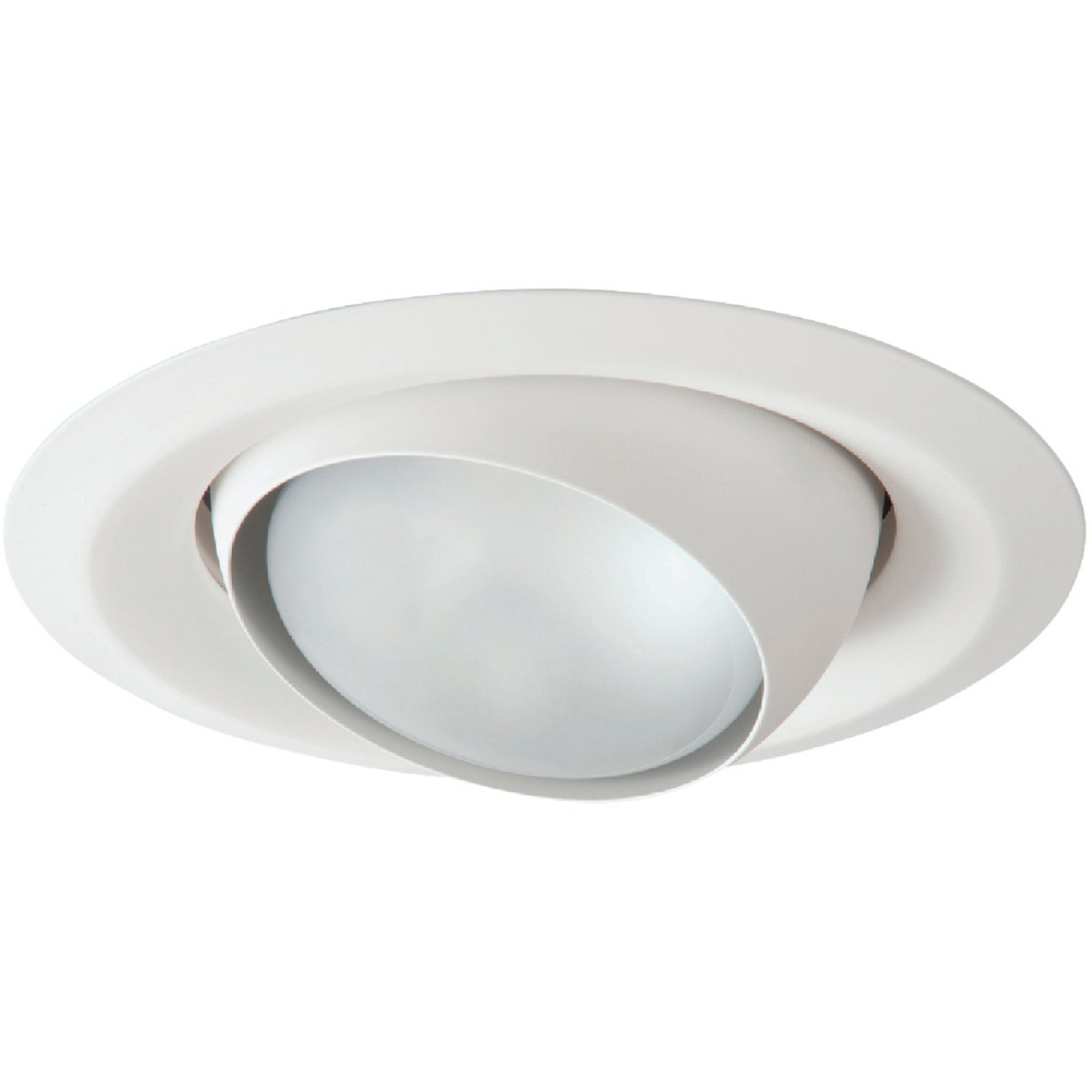 Halo 6 In. White Self-Flanged Eyeball Recessed Light Trim Image 1