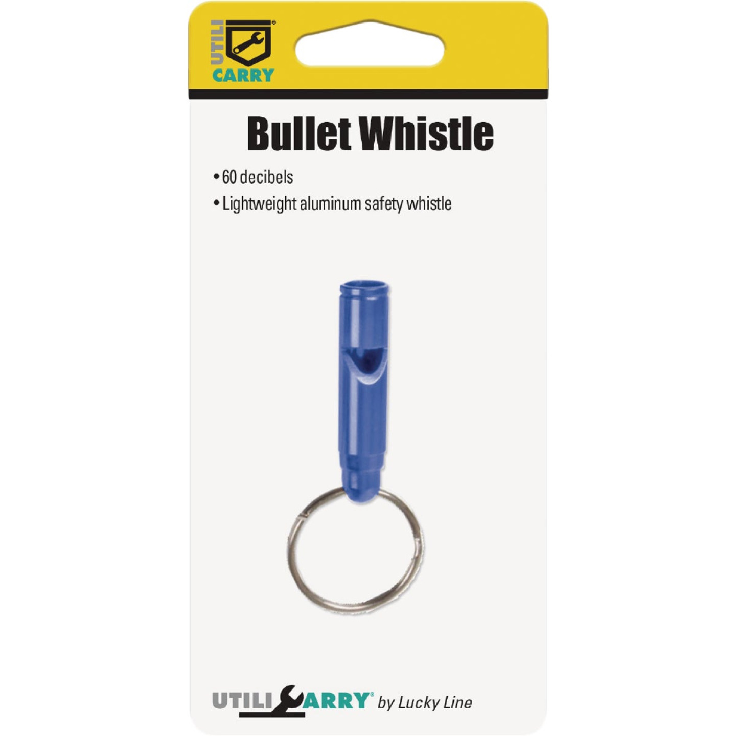 Lucky Line Utilicarry Bullet Whistle with Key Ring Image 2