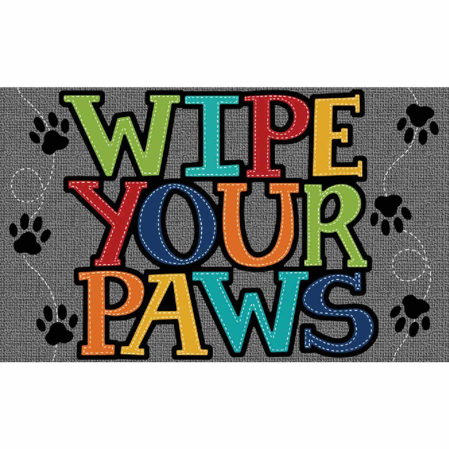Mohawk Home 18 In. x 30 In. Wipe Paw Stitch Door Mat Image 1