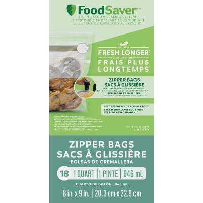 FoodSaver FreshSaver Vacuum Zipper Quart Bags (18 Count)