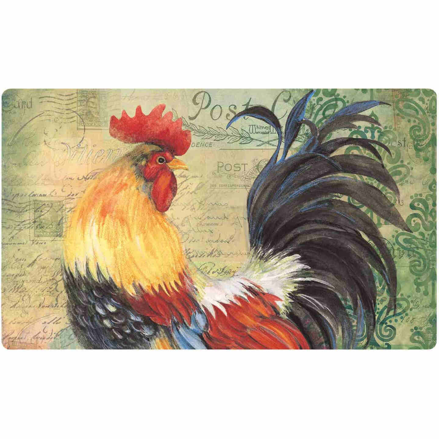 Mohawk Home 18 In. x 30 In. Colorful Rooster Kitchen Anti-Fatigue Mat Image 1