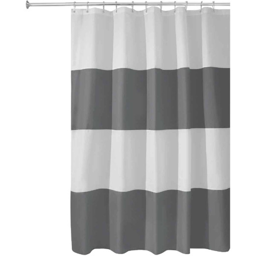 iDesign Zeno 72 In. x 72 In. Striped Shower Curtain