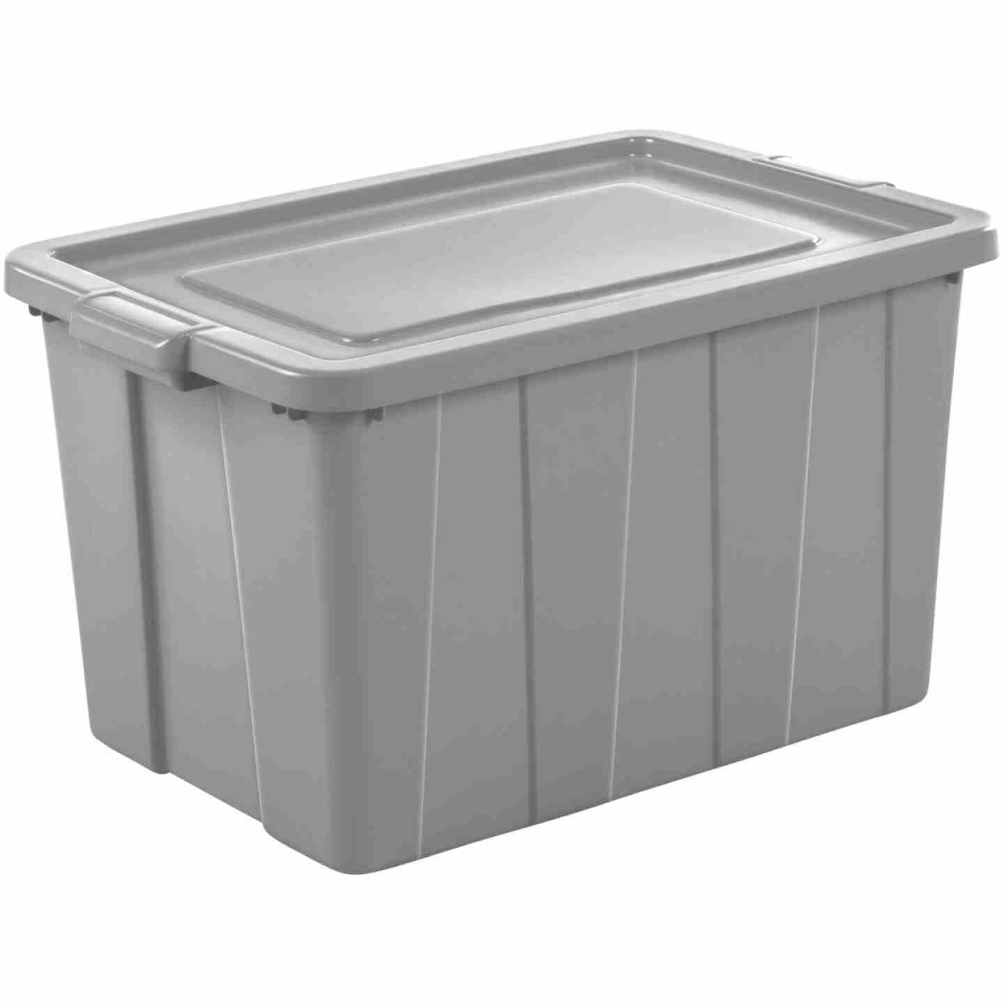 Sterilite Tuff1 30 Gal. Cement Tote with Handles Image 1