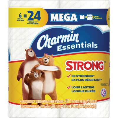 Charmin Essentials Strong Toilet Paper (6 Mega Rolls)