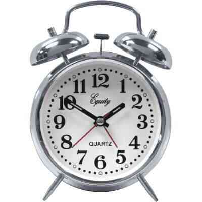 La Crosse Technology Equity Quartz Analog Twin Bell Battery Operated Alarm Clock