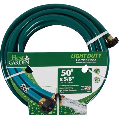 Best Garden 5/8 In. Dia. x 50 Ft. L. Light-Duty Garden Hose