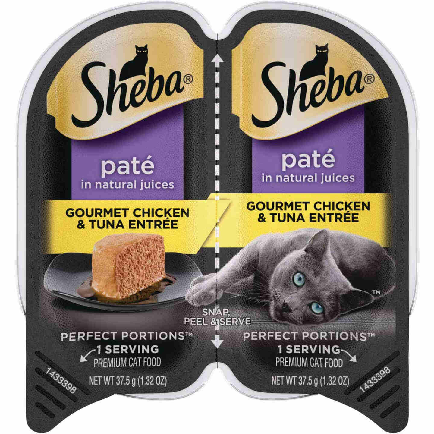 Sheba Perfect Portions Pate 2.6 Oz. Adult Gourmet Chicken & Tuna Wet Cat Food Image 1