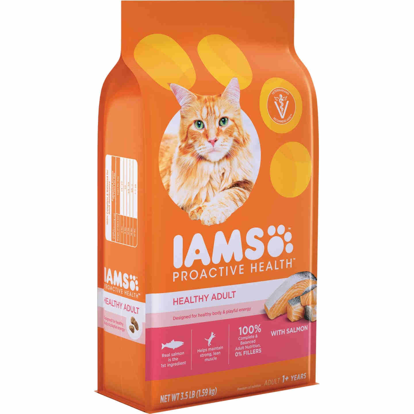 Iams Proactive Health 3.5 Lb. Salmon & Tuna Flavor Adult Dry Cat Food Image 1