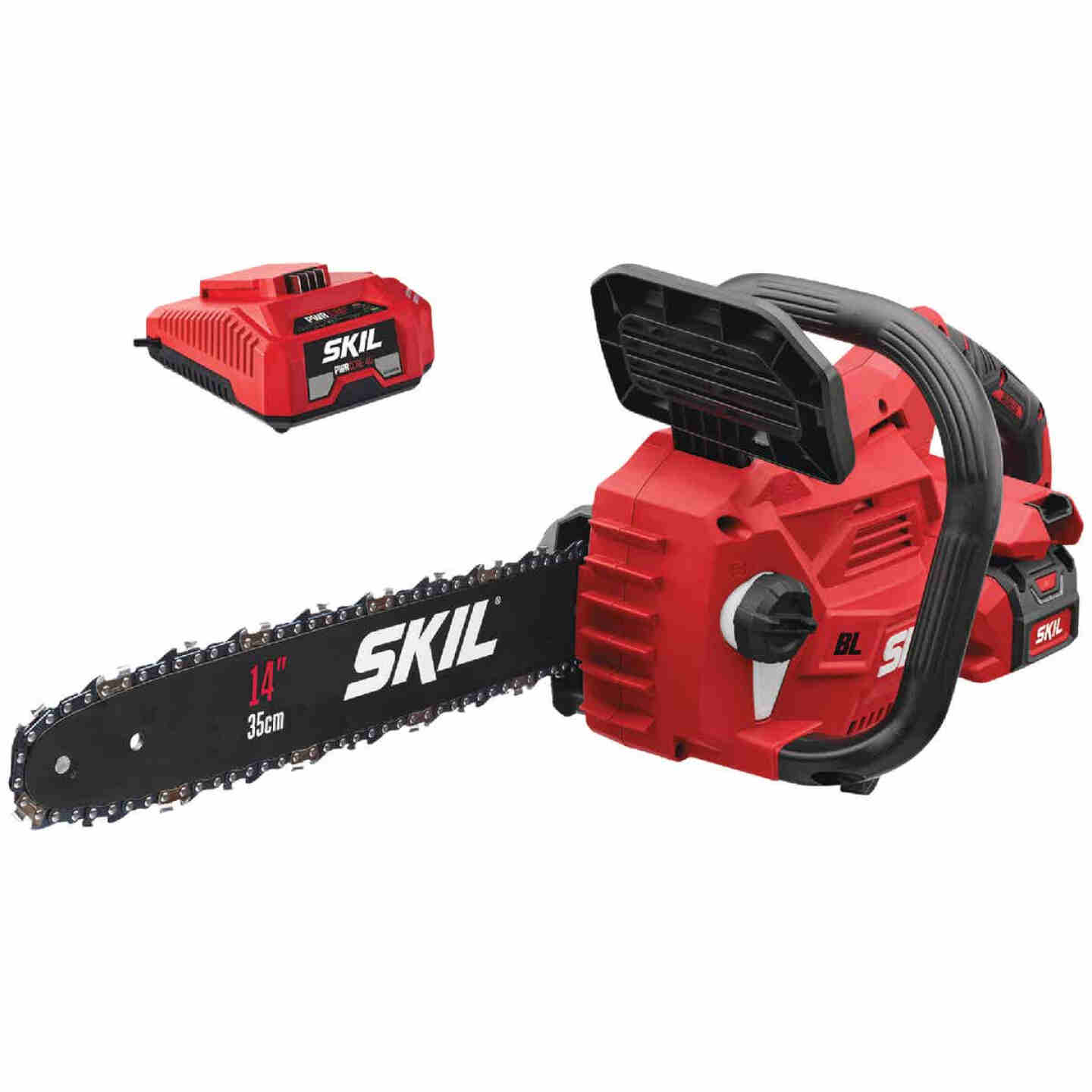 SKIL PWRCore 14 In. 40V Brushless Chainsaw with AutoPWRJump Charger Image 1