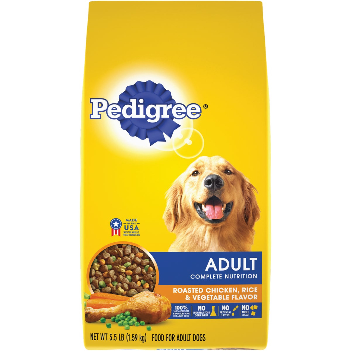 Pedigree Complete Nutrition 3.5 Lb. Roasted Chicken, Rice, & Vegetable Adult Dry Dog Food Image 1