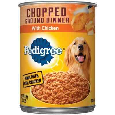 Pedigree Traditional Chopped Ground Dinner with Chicken Wet Dog Food, 13.2 Oz.