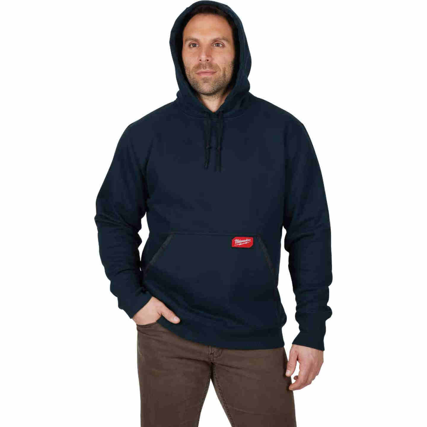 Milwaukee XL Navy Blue Heavy-Duty Pullover Hooded Sweatshirt Image 4
