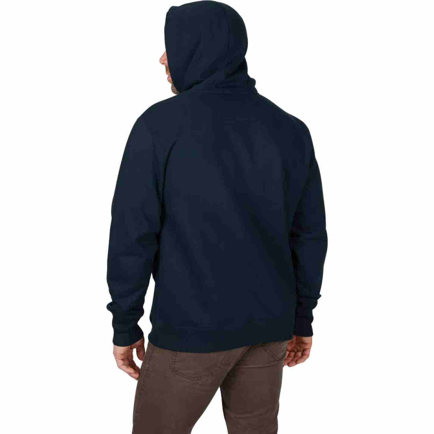 Milwaukee XL Navy Blue Heavy-Duty Pullover Hooded Sweatshirt Image 3