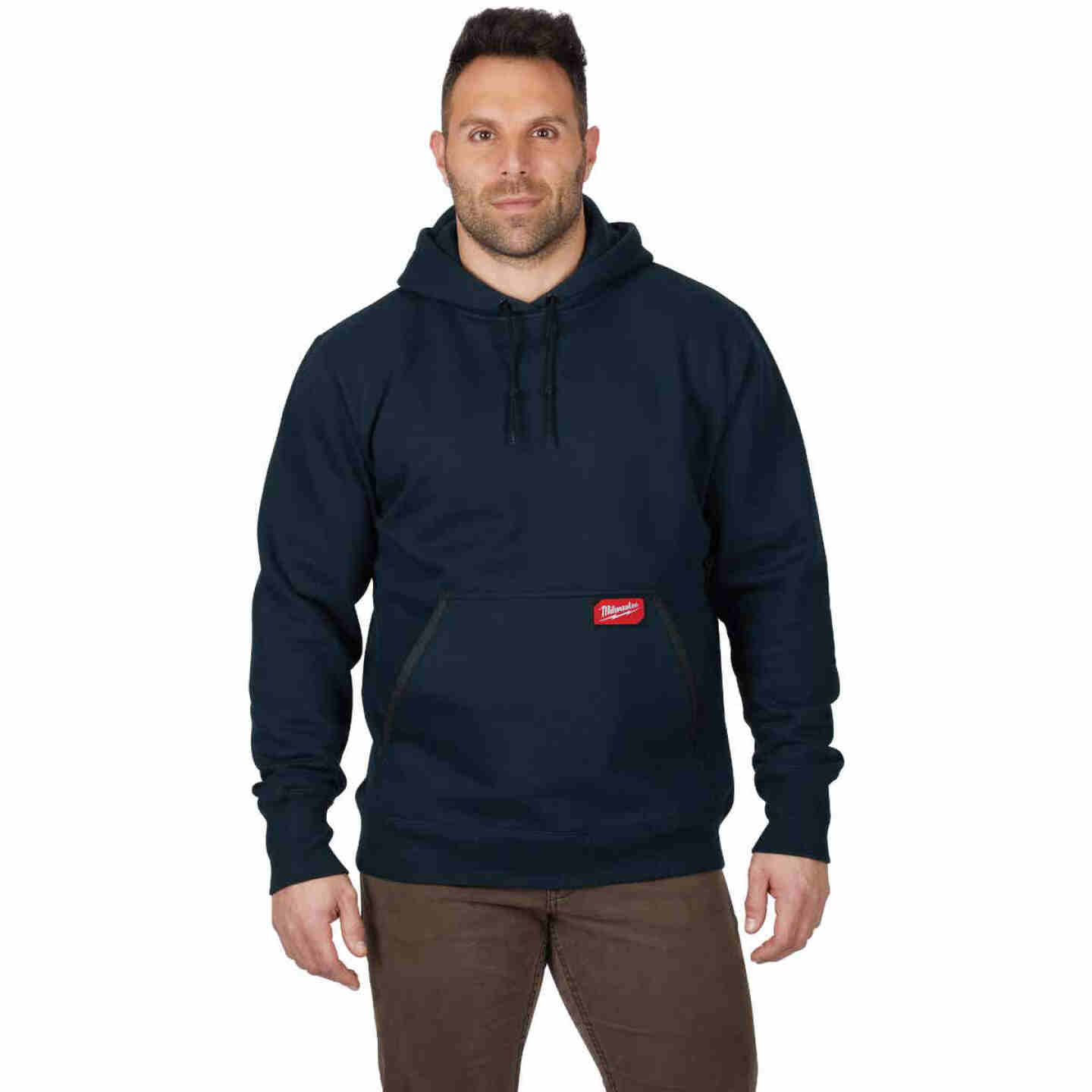Milwaukee XL Navy Blue Heavy-Duty Pullover Hooded Sweatshirt Image 2