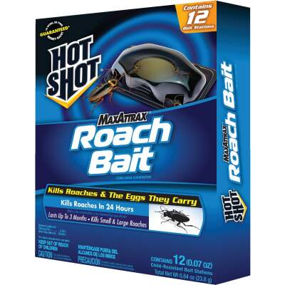 Hot Shot Max Attrax 0.84 Oz. Solid Roach Bait Station (12-Pack)