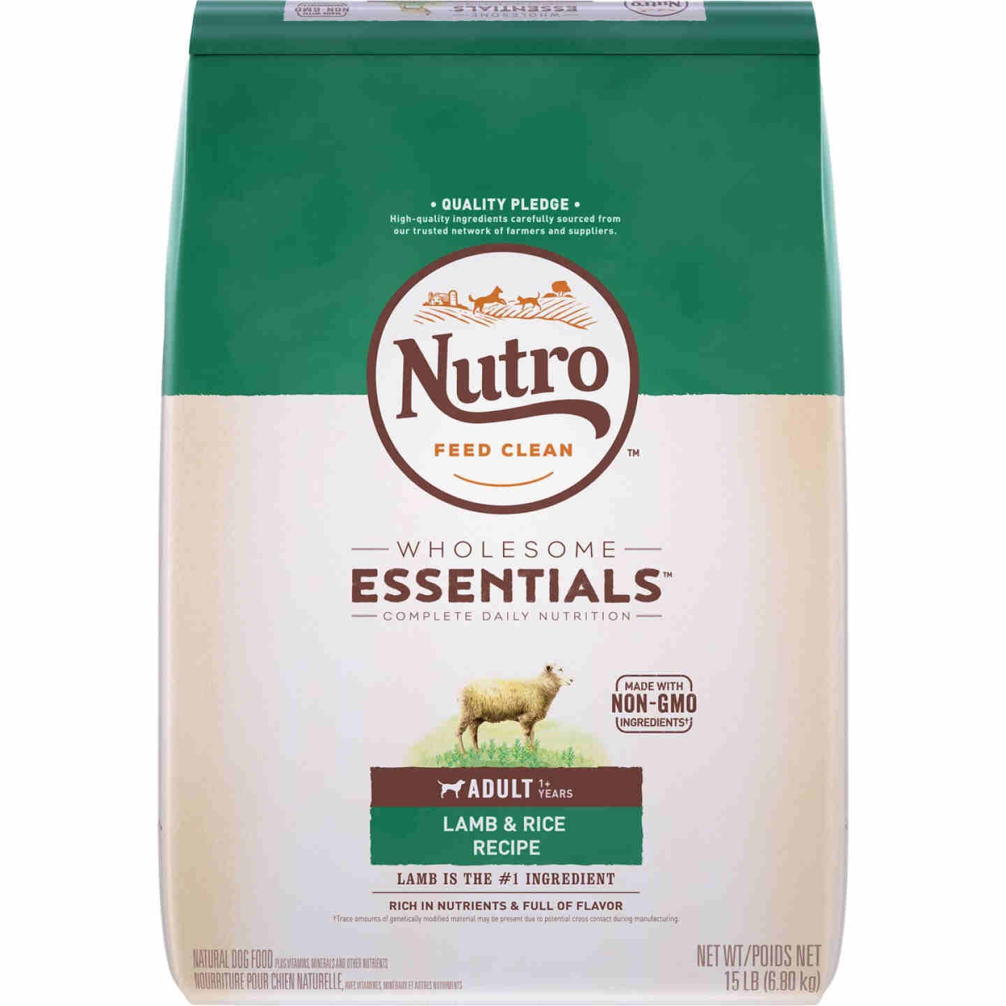 Nutro Wholesome Essentials 12 Lb. Lamb & Rice Adult Dry Dog Food Image 1