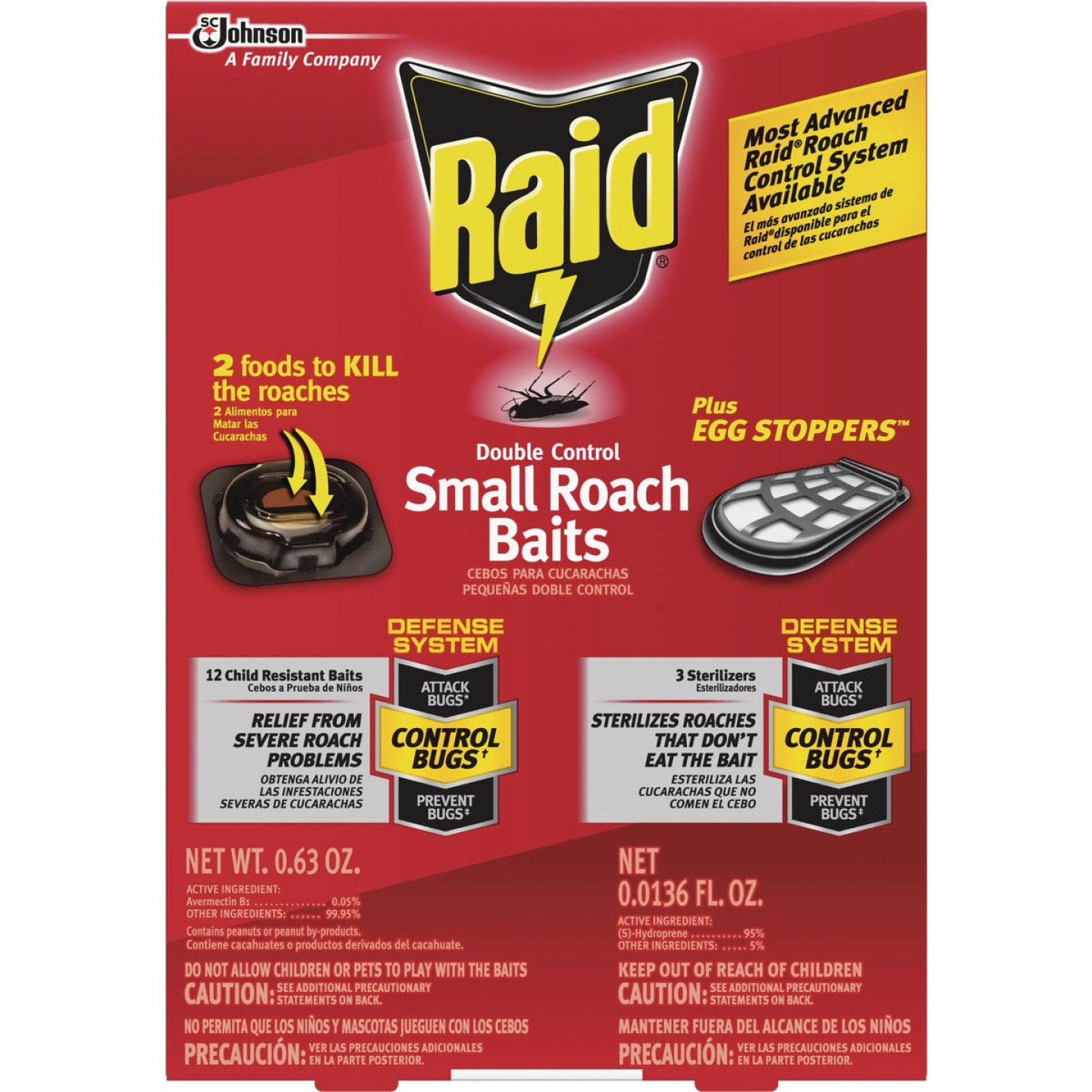 Raid Double Control 0.63 Oz. Solid Roach Bait Station with Egg Stoppers (12-Pack) Image 1